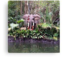 Jungle cruise elephants  Canvas Print