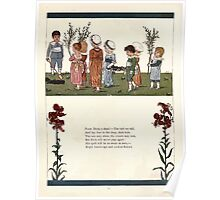 Under the Window Pictures and Rhymes for Children Edmund Evans and Kate Greenaway 1878 0036 Poor Dicky's Dead Poster