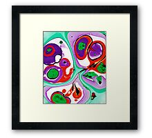 Abstract #10: Cell Dance Framed Print