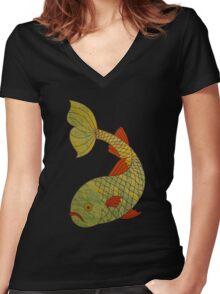 FishTee Women's Fitted V-Neck T-Shirt