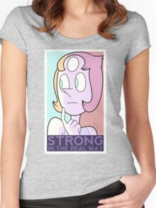 Strong in the real way Women's Fitted Scoop T-Shirt