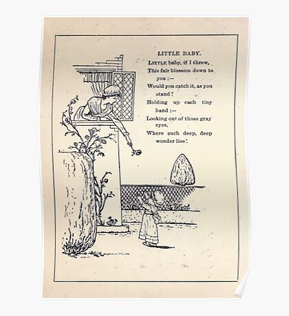 Miniature Under the Window Pictures & Rhymes for Children Kate Greenaway 1880 0052 Little Baby Poster