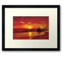 Evening in colour Framed Print