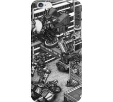 The cleaning robots and the futureistic Moxie horse mobile iPhone Case/Skin