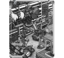 The cleaning robots and the futureistic Moxie horse mobile iPad Case/Skin