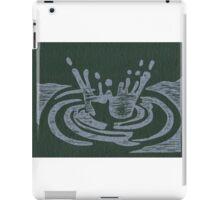 Raindrop Splash Woodblock Print iPad Case/Skin