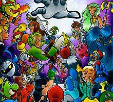 Super Smash Bros VS Master Hand by zuckey