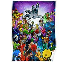 Super Smash Bros VS Master Hand Poster
