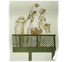Language of Flowers Kate Greenaway 1884 0008 Maids on Balcony Poster
