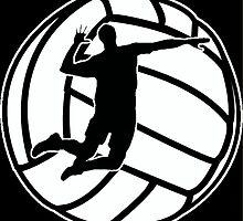 Men's Volleyball Shield  by henrytheartist