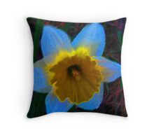 Daffodil From Outer Space Throw Pillow