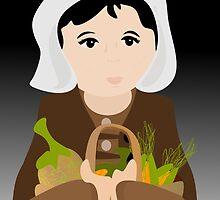 Pilgrim Woman with Bounty by elledeegee