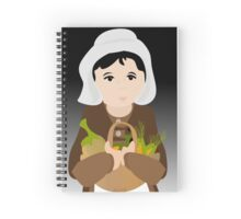 Pilgrim Woman with Bounty Spiral Notebook