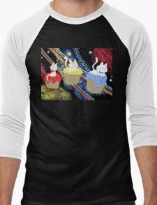 Space Cupcake Kittens Men's Baseball ¾ T-Shirt