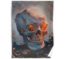 Skull Oil Painting Poster