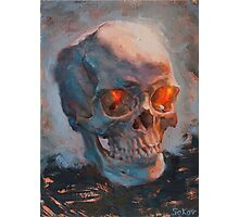 Skull Oil Painting Photographic Print