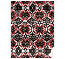 Red, Brown and Black Abstract Design Pattern Poster