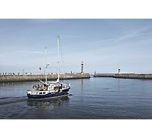 Pleasure trip at Whitby, Yorkshire, UK Photographic Print