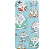 Random VW Camper Van Doodles iPhone Case/Skin