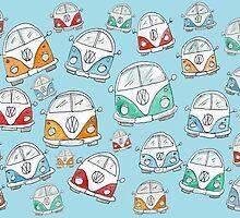 Random VW Camper Van Doodles by AndyLanhamArt