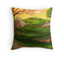 'Valley of the Sun Temple' Throw Pillow