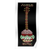 zombie music guitar print... Poster