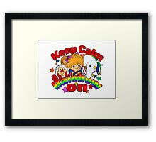 Keep Calm & Rainbow On (Light) Framed Print