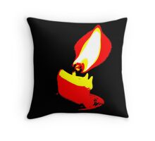 White Hot Abstract #4 Throw Pillow