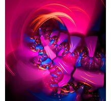Purple Plastic Photographic Print