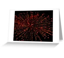 Orange Bursting in Air Greeting Card