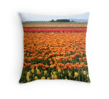 A field of Tulips Throw Pillow