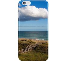 Emerald Isle Beach, Between the Dunes and Clouds iPhone Case/Skin