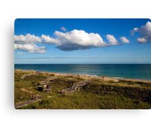 Emerald Isle Beach, Between the Dunes and Clouds Canvas Print