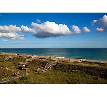 Emerald Isle Beach, Between the Dunes and Clouds Photographic Print