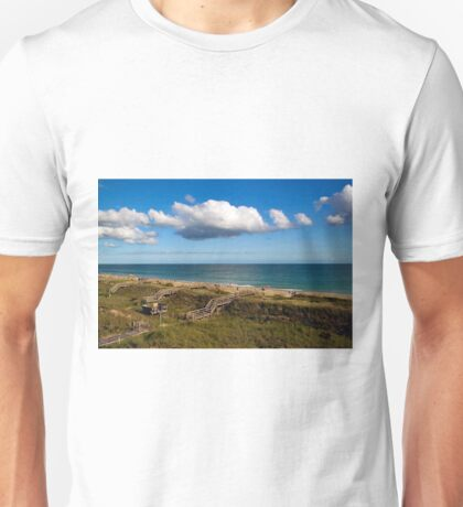 Emerald Isle Beach, Between the Dunes and Clouds Unisex T-Shirt