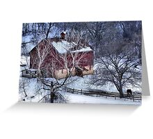 Winter Down in the Valley Greeting Card