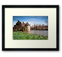 Springtime at Scotney Castle: Kent Framed Print