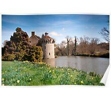Springtime at Scotney Castle: Kent Poster