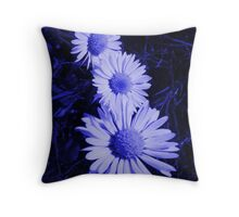 Unlikely Blue #7 Throw Pillow