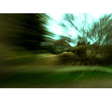 The blur of motion. Photographic Print