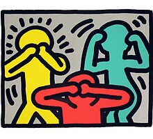 Keith Haring -No speak no see no hear- by GiulyB