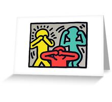 Keith Haring -No speak no see no hear- Greeting Card