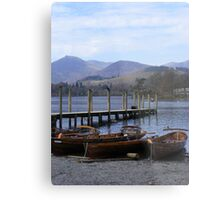 boats at Keswick Metal Print