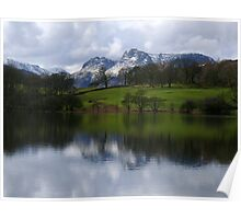 The Langdale Pikes from Loughrigg Tarn Poster