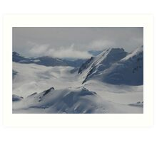 Reach Out Of The Plane And Touch That Glacier Art Print