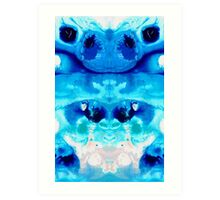 Happiness - Blue Abstract Art By Sharon Cummings Art Print