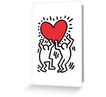 Keith Haring -Love- Greeting Card