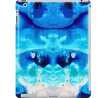 Happiness - Blue Abstract Art By Sharon Cummings iPad Case/Skin