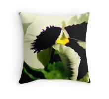 White and Purple Pansy Throw Pillow