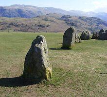 segment - Castlerigg Stone circle near Keswick by monkeyferret
